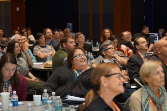 2016 Attendees listening to Keynote Speaker Robert Stein