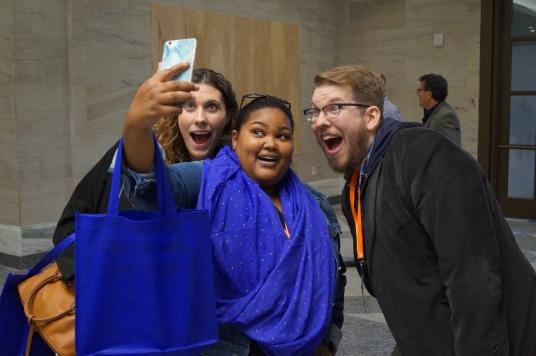 VEX Committee Members making time for selfies
