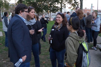 Mixing and mingling at the Franklin Square Welcome Event