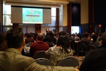 Attendees listening to Keynote Robert Stein